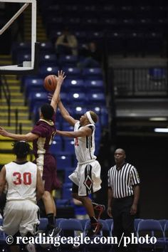BOYS BASKETBALL Reading High Red Knights vs Gov. Mifflin Mustangs in a BCIAA semifinal at Santander Arena, Reading.  Photo by Jeremy Drey 2/11/2015