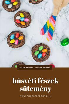 Húsvéti fészek sütemény mandulalisztből, gluténmentesen. Easter, Cookies, Decoration, Recipes, Food, Crack Crackers, Decor, Easter Activities, Biscuits