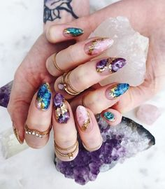 Over 50 Bright Summer Nail Art Designs That Will Be So Trendy All Season - 54 The Brightest Spring 2020 Nail Trends That Are SO Popular Right Now Bright Summer Acrylic Nails, Cute Acrylic Nails, Cute Nails, Pretty Nails, Summer Nails, Fall Nails, Bride Nails, Wedding Nails, Stone Nails