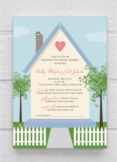 Around The House Shower Invitations #wedding #printable