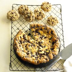Are you a cookie dough fanatic? Then you will love this Chocolate Chip Cookie Dough Cheesecake! More rich and creamy cheesecakes: http://www.bhg.com/recipes/desserts/cakes/cheesecake-recipes/creamy-cheesecake-recipes/?socsrc=bhgpin071413cookiedough=13