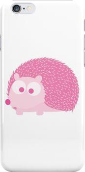 Cute Pink Hedgehog by Eggtooth