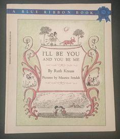 I'll Be You And You Be Me Ruth Krauss Maurice Sendak Vtg Blue Ribbon Scholastic   | eBay