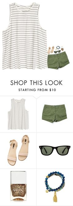 """""""When do y'all start school? What grade are y'all in? """" by kaitlynbug1226 ❤ liked on Polyvore featuring J.Crew, Rachel Zoe, Ray-Ban, Nails Inc. and Good Charma"""