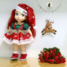 "Christmas dress for Disney animator dolls 16""."