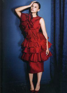 John Rocha AW14 in Hello! Fashion Monthly December 2014 #fashion #press #editorial