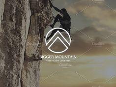Bigger Mountain Logo by MLJ studios on @creativemarket