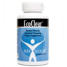 Your first parasite cleanse should be a four month commitment to eliminate adults, larvae and eggs. Then twice yearly take EcoClear for one month (spring and fall are ideal) to prevent re-infestation.  EcoClear uses a unique, full spectrum, combination of pure, traditional botanicals to eliminate all types of parasites. EcoClear is a proprietary blend of Holerrhena antidysentrica bark, Black Seed, Coriander seed, Basil leaf, Neem leaf, Embelia ribes herb, Black Walnut hull, Clove, Wormwood extract, Peppermint leaf, and Grapefruit seed extract.  $32.95