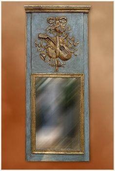 19th C. French  LXVI Style Provençale Trumeau - Mirrors - Trumeaux