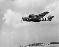 Beaufighter TF Mark X, NT946, of No. 489 Squadron RNZAF, setting out from Langham, Norfolk, on an anti-shipping strike, carrying an 18-inch torpedo fitted with a Monoplane Air Tail.