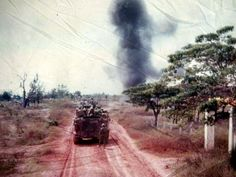 US Army 3/4 Cavalry M113 APCs on the move