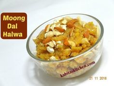 moong dal halwa easy step by step recipe by kabitaskitchen