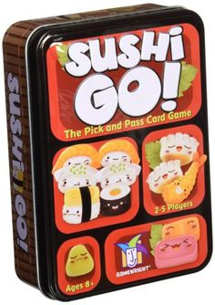 Sushi Go! - The Pick and Pass Card Game - card games for kids