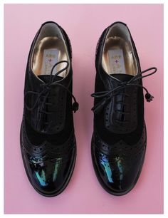 ABO + Ana Ljubinkovic black brogues
