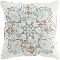 Mineral Embroidered Medallion Pillow | Pier 1 Imports