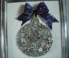 VINTAGE KEEPSAKE FRAMED RHINESTONE JEWELRY CHRISTMAS TREE ORNAMENT in | eBay
