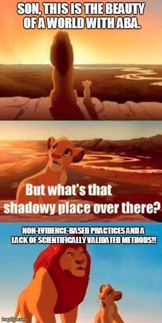 """Through some humor and sarcasm, this meme is trying to portray the need for evidence in treatments. Behavior analysis has nothing to hide, so behavior analysts can work out in the open. Many treatments that are not scientifically validated hide in the shadows and only use extraordinary claims to support use. As the old saying goes... Extraordinary claims require extraordinary evidence. Behavior analysis can show evidence, but treatment """"fads"""" cannot."""