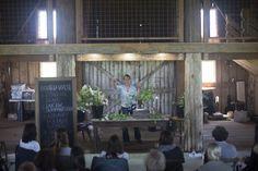Scene from a Seasonal Floral Intensive workshop at Floret Flower Farm.  Floral design.