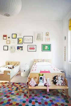 [Home Decor] Shared Kid's Room Inspiration Casa Kids, Deco Kids, Big Girl Rooms, Kids Rooms, Shared Rooms, Modern Kids, Kid Spaces, Kids Decor, Girls Bedroom
