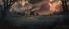ArtStation - 240821, Leksø Tiger Concept, Artwork, Painting, Work Of Art, Auguste Rodin Artwork, Painting Art, Artworks, Paintings, Painted Canvas