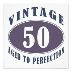 50th birthday & rocks | Turning 50 Years Old Invitations, 145 Turning 50 Years Old Invites ...