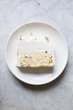 Honey Saffron Chocolate Chip Ice Cream Cake | ZoeBakes