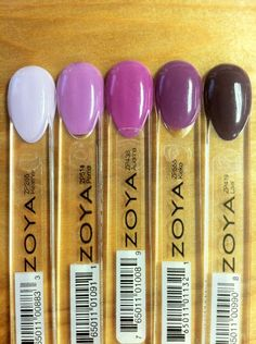 Purple Ombre Idea with Zoya Nail Polish in Heather, Perrie, Audrina, Kieko and Lael