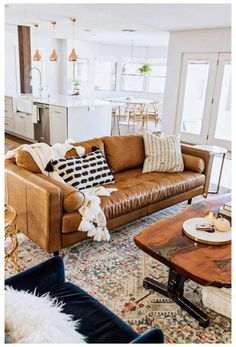 Elegant Living Room, Boho Living Room, Cozy Living, Living Spaces, Living Rooms, Living Room Sofa Design, Living Room Designs, Couch Design, Living Room Decor Tan Couch