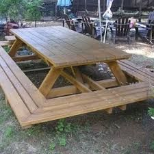 7 best floating picnic table images on pinterest picnic tables another great idea for daycare picnic table custom made large thru bolt picnic tables project for you and uncle lemon watchthetrailerfo