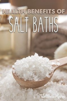 Magnesium salt baths are wonderful for the skin and can help boost the body's nutrient levels while relaxing.