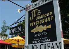 JT's – Cape Cod Seafood Restaurant | Brewster, Cape Cod; Good seafood, indoor & outdoor seating.