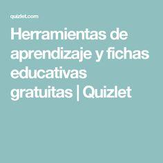 Herramientas de aprendizaje y fichas educativas gratuitas   Quizlet