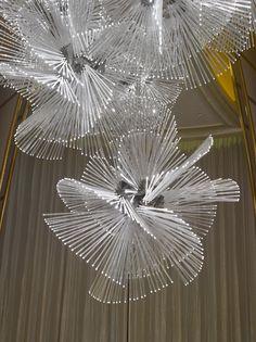 Four Seasons Hotel Chandeliers, Antique Chandelier, Chandelier Lighting, Lighting Sculpture, Modern Lighting Design, Lighting Concepts, Interior Lighting, Ceiling Design, Lamp Design