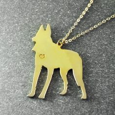 Free shipping   Belgian Malinois necklace  by lovesignature, $19.99