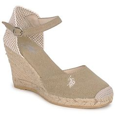 55% OFF These wedge espadrilles from US Polo Assn for summer! CLICK TO BUY with free delivery @spartoouk ! #shoes #wedges #sandals #espadrilles #summer #sale #outlet