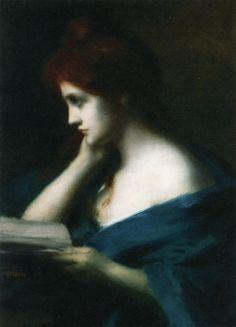 Pintura de Mélancholie - Jean Jacques Henner