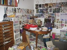 The inspirational workspace of Folksy maker Alix Swan
