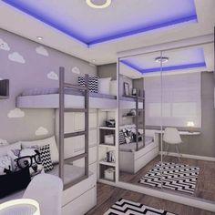 Beliche: 70 modelos perfeitos para quartos charmosos e funcionais Home Room Design, Home, Cool Rooms, Awesome Bedrooms, Bedroom Design, House Rooms, Small Room Bedroom, Aesthetic Bedroom, Dream Rooms