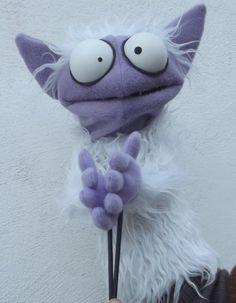 el soplillo  the monster ,   monster puppet wooden rods