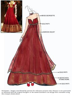 DIY Velvet Floor Length Anarkali Suit