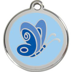 Red Dingo's Butterfly Enamel Pet ID Tag is both stylish and durable! #CatIDTag #PetIDTag