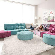 Chesterfield Sofa Mah Jong style modular sofa Montreal