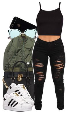 """Views"" by aniyakarice ❤ liked on Polyvore featuring Duffy, MICHAEL Michael Kors and adidas"