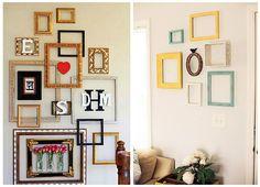 Все о дизайне интерьера: Пустые рамки на стенах - необычная идея декора