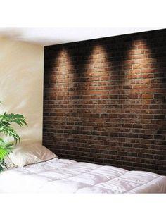 Wall Hanging Art Light Brick Wall Print Tapestry
