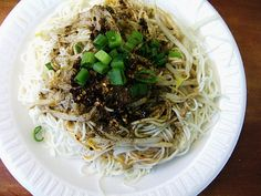 These cold Sichuan noodles are one of my favorite things to eat in Golden Mall.