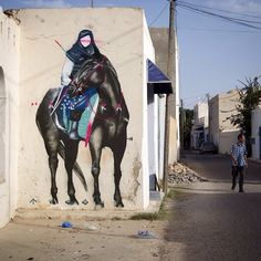 """@T_w_o_O_n_e in Tanzania. """"Malaka's Horse Rider"""". TwoOne's exhibition opens October at Backwoods. #Padgram"""