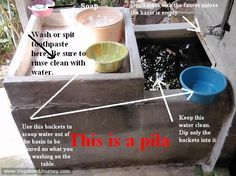 """The indispensable wash basin in many Spanish speaking countries.  In Central America (Guatemala, El Salvador, Honduras, Nicaragua, Costa Rica and Panama) it is called """"Pila"""" o """"Lavadero"""".  In this link you'll find information about how to use it and it's importance in a home."""