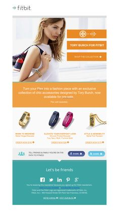 Fitbit & Tory Burch HTML Email Design