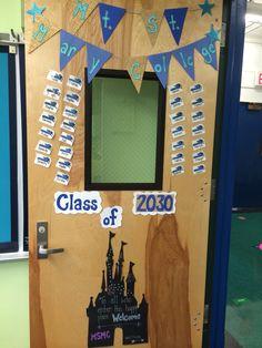 Classroom door design #collegetheme #disney